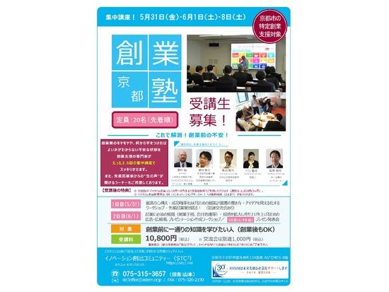 2019年度 第1回「京都創業塾」開催のお知らせ