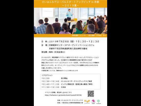 けいはんなグローバルスタートアップピッチ in 京都 ~2019夏~